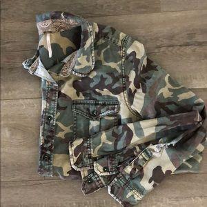 Free People Camo Army shirt